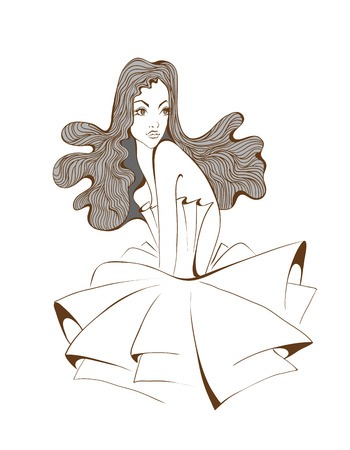 Womans with beautiful hair Vector