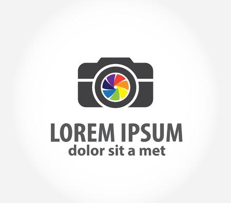 stylized photo camera on a white background