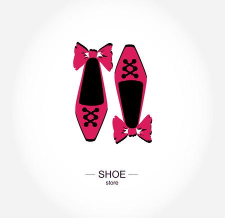 tienda zapatos: Logo tienda de zapatos, tienda, etiqueta boutique. Vectores
