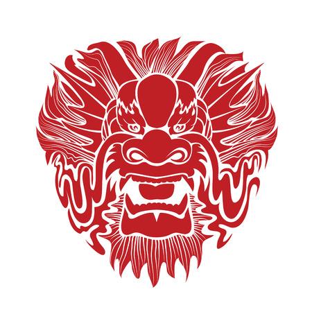 伝統的なアジアの龍。
