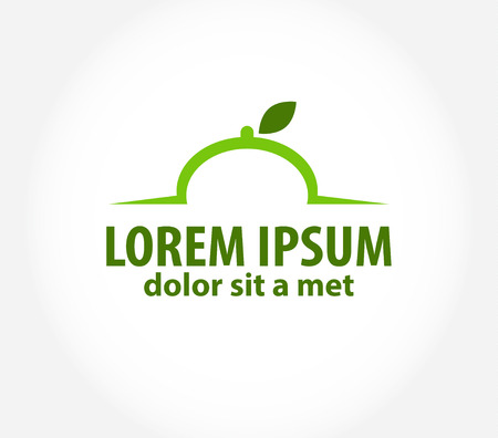 icon templat or eco restaurant, cafe Vector