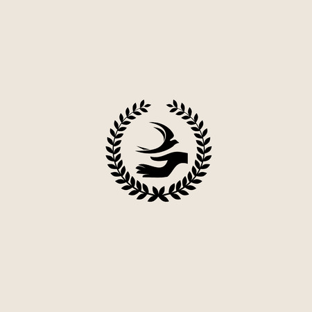 Swallow bird abstract vector logo design template. Vector