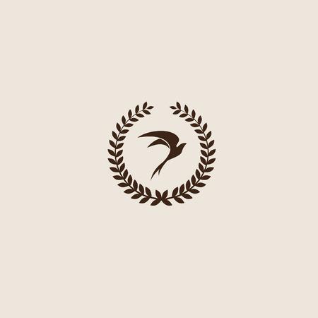 sparrow bird: Swallow bird abstract vector logo design template. Creative concept symbol icon. Illustration