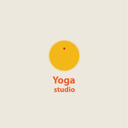 template logo for yoga studios. sun Vector
