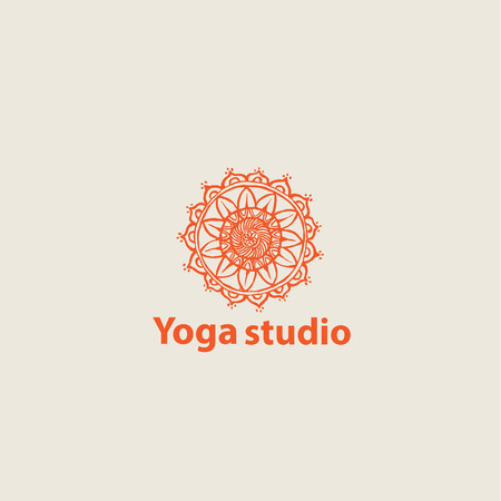 mandala vector: template logo for yoga studios.