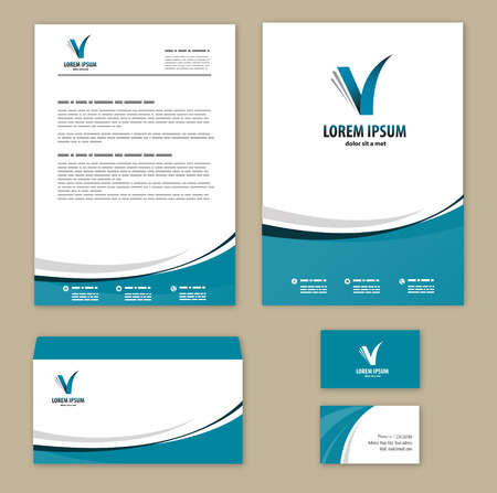 business card template: Template corporate style.