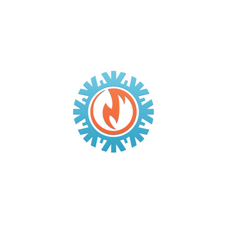 Heat and Cold abstract Branding Identity Corporate vector icon