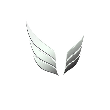 abstract wing: vector 3d abstract wing flying icon for company