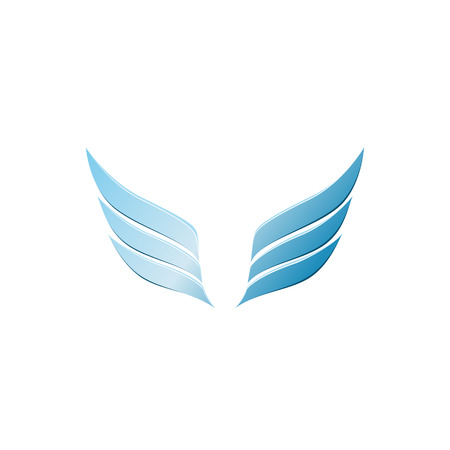 wings design: vector 3d abstract wing flying icon for company