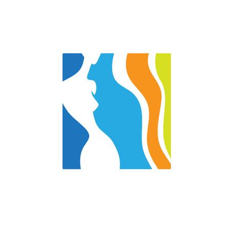 medicine logo: beauty icon template