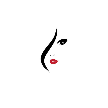 stylised: Fashion Woman Silhouette , Vector Illustration, Graphic Design Editable For Your Design. Logo Symbol