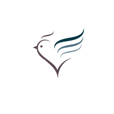 aves de corral: Señal, estilizada silueta pollo. Logo plantilla de diseño