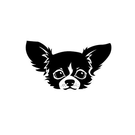 チワワ犬の頭。犬のベクトル図です。