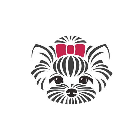 La testa di cane chihuahua. Cane illustrazione vettoriale. Archivio Fotografico - 43554862