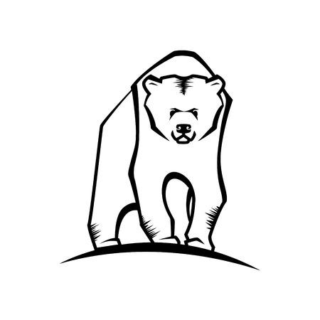silueta blak oso vector emblema o logotipo Logos
