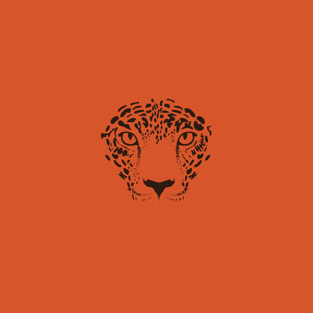 predators: Leopard or jaguar. Stylized wild cat. Vector illustration