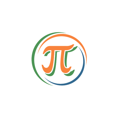 circle design: The mathematical sign pi in a circle