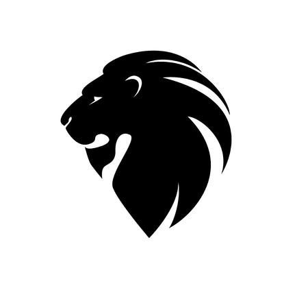 visage profil: tête de lion dans le profil. Illustration