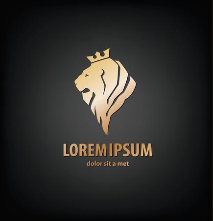 leones: La cabeza de león en el perfil. Vectores