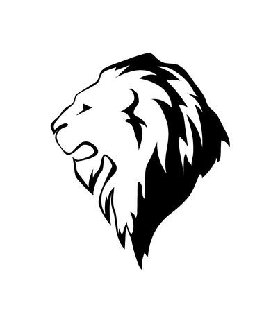 lion head in profile.