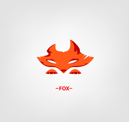foxy: Vector image of an fox head on white background.