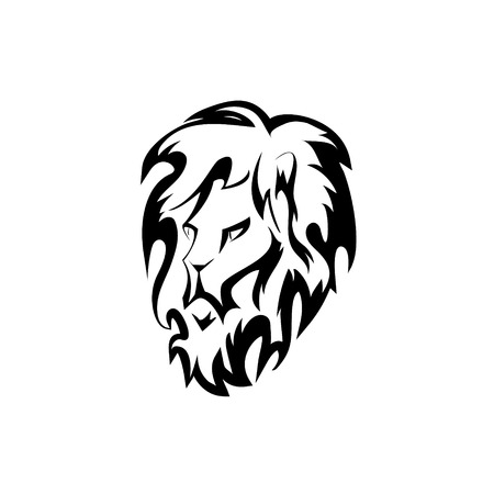 lion vector: lion head. vector design