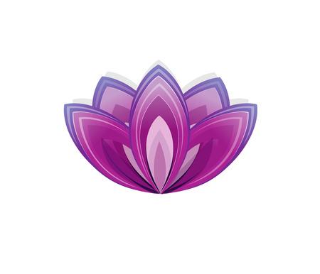 Fiore di loto come simbolo di yoga. Illustrazione di vettore per l'evento lo yoga, la scuola, club, web.