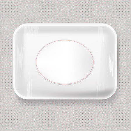 food tray: White Empty Blank Plastic Food Tray Container. Mock Up Template package.