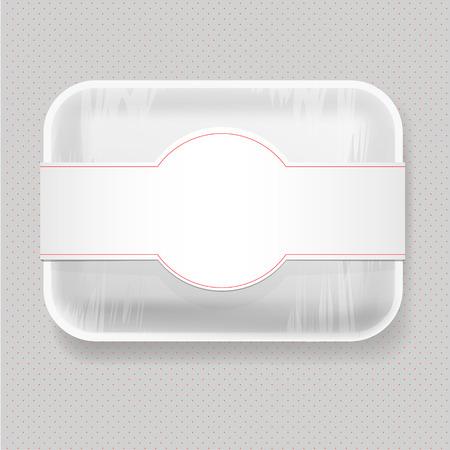 Witte lege lege plastic Dienblad van het Voedsel Container. Mock Up Template pakket.