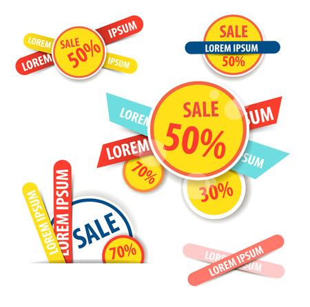 discount banner: Set of Website Banner. Sale Discount Banners.