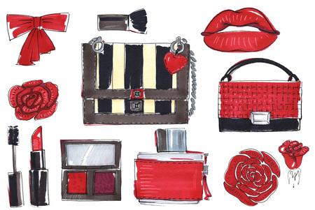 fashion set: fashion sketch set.