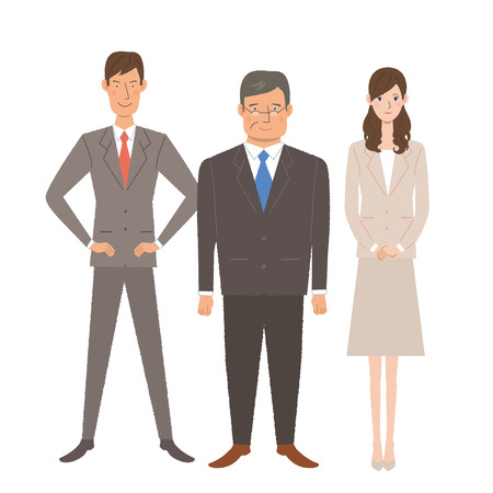 People businessman business woman to work