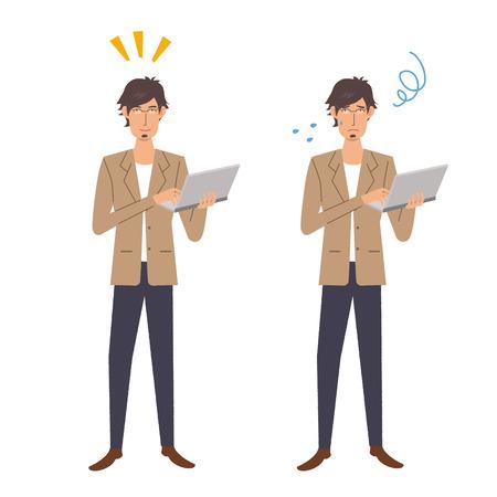 apprehension: Businessman SE illustrations