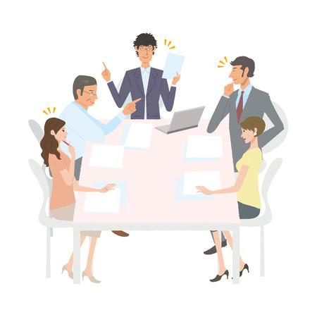 会議  イラスト・ベクター素材