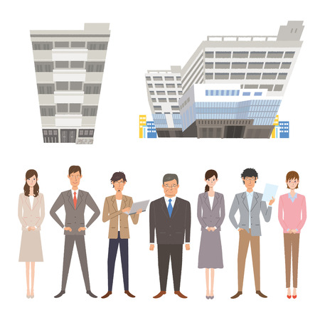 People who work Illustration