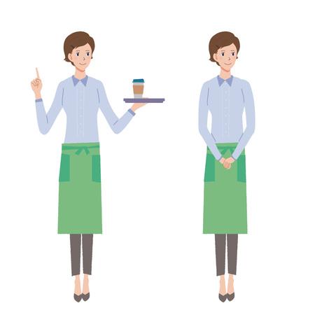 oficinista: café empleado