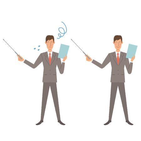 Businessman illustration Ilustrace