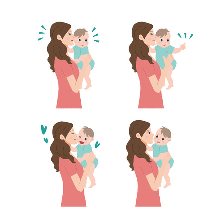 illustrate: Mother and baby Illustration