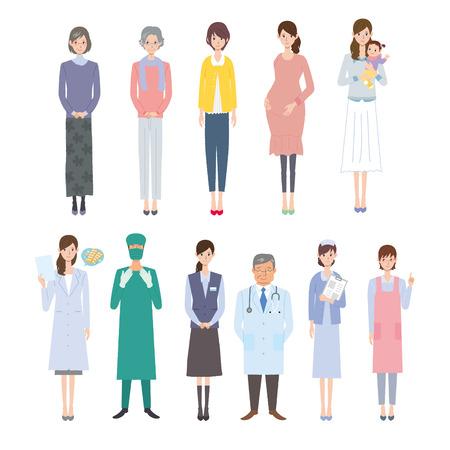 equipe medica e la gente Vettoriali