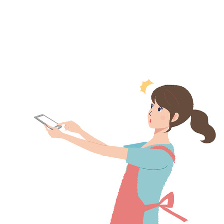 Mobile phone people illustrations