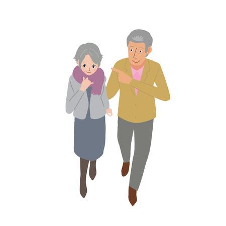 Elderly illustrations Иллюстрация