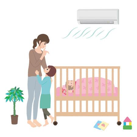 Bambino illustrazione Crib