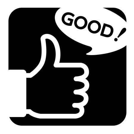 Good button mark (square icon)
