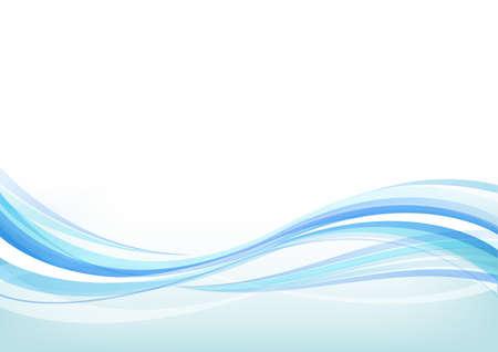 Wave background (blue)  Vecteurs