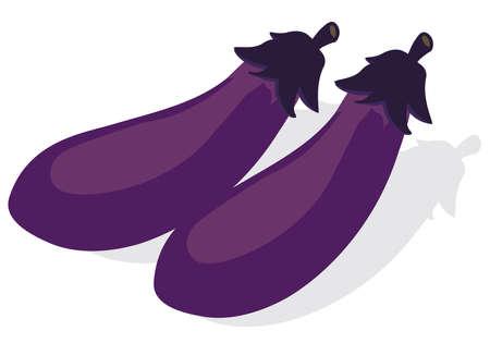 Illustration of fresh vegetables (eggplant)