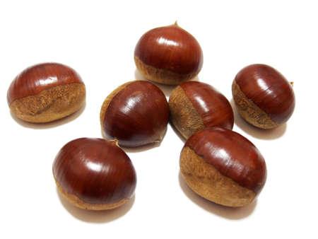Raw chestnut (image photo of ingredients)