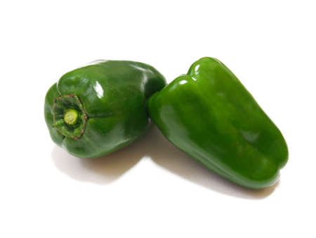 Photo of vegetables 2 peppers (white background)