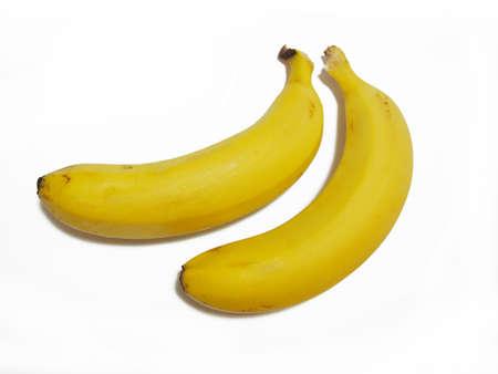 2 bananas (tropical fruit) Fruit material photo