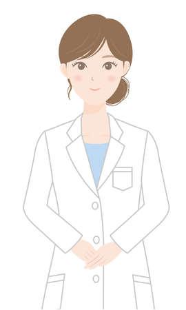 A woman in a white coat Illusztráció