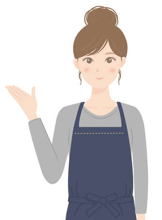A woman in an apron who is guiding